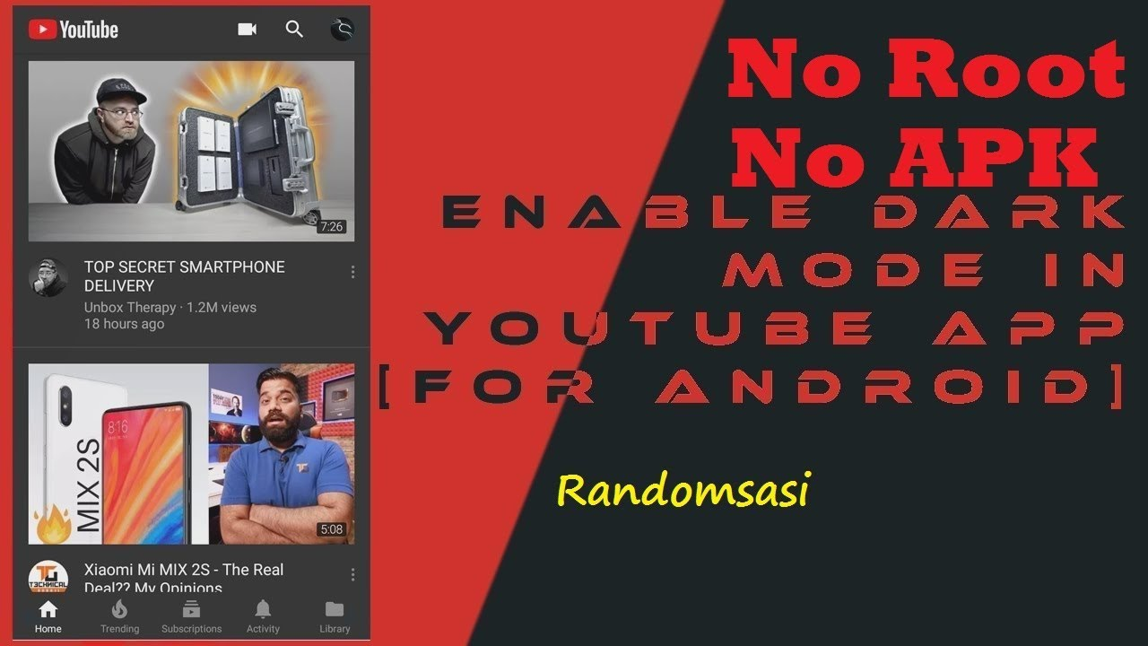 How to Enable DARK MODE in YouTube app | No APK / No Root  #Smartphone #Android