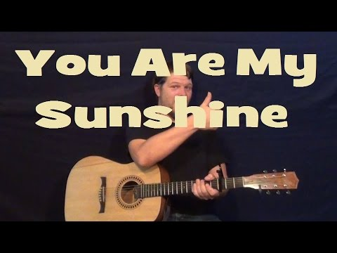You Are My Sunshine Easy Strum Guitar Lesson Chords Country Feel
