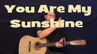 You are My Sunshine - Easy Strum Guitar Lesson Chords Country Feel - G C D