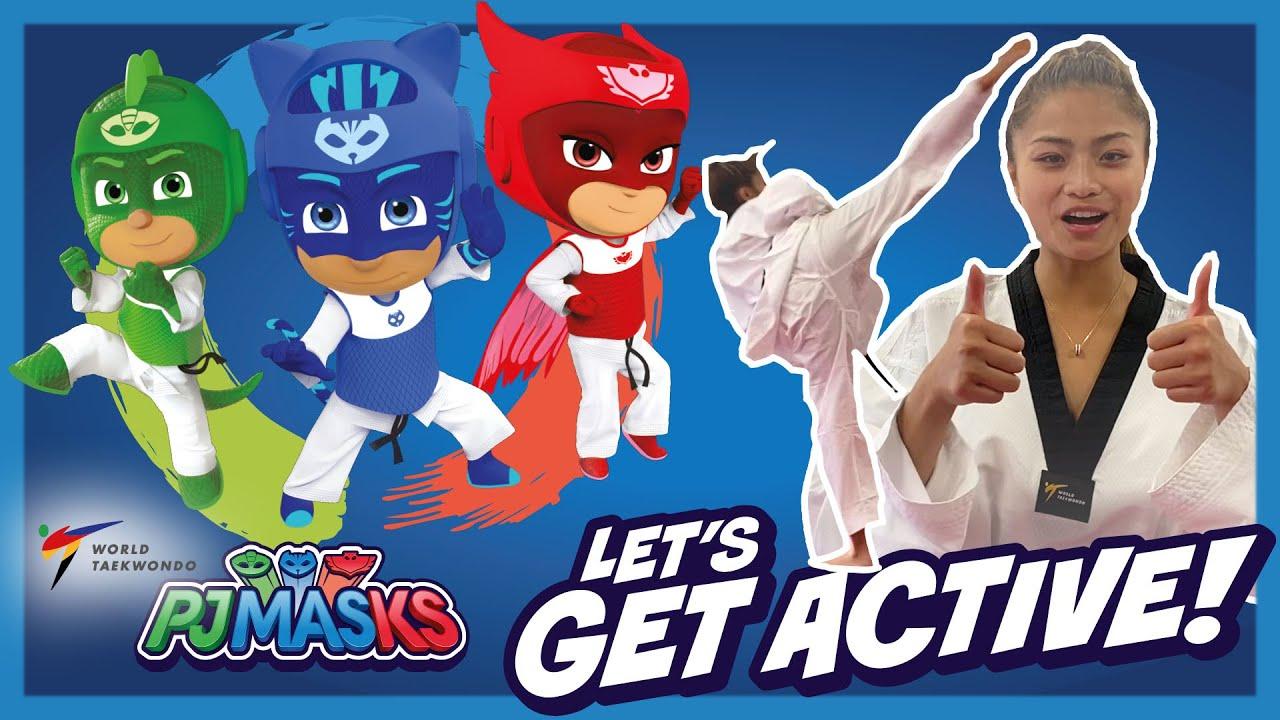 PJ Masks Get Active!   Learn Shield Block with Pauline Lopez   PJ Masks X World Taekwondo