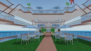 Building An Atrium! Roblox Cruise Ship Tycoon!