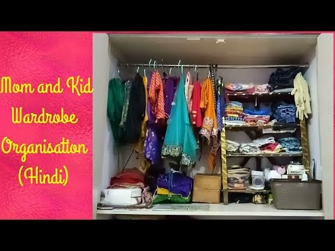 How to organize small Indian wardrobe?Closet organisation /Wardrobe Organisation Ideas in Hindi