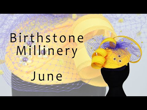 Birthstone Millinery - June - Pearl (Millinery And Hat Making Tutorial) #stunning :-)