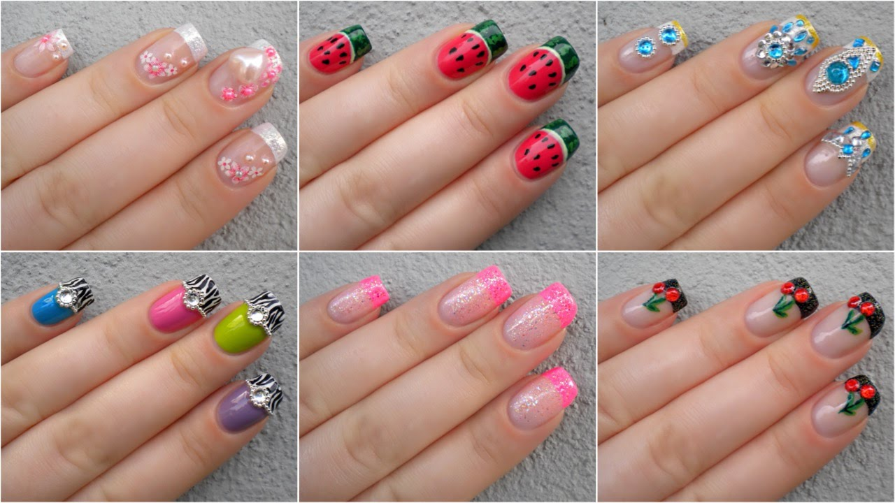 Nail Art Gallery // My First Nail Designs - YouTube