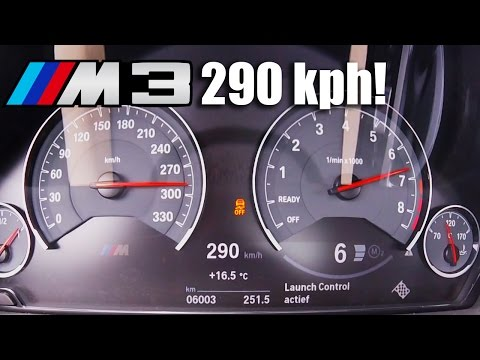 BMW M3 ACCELERATION & TOP SPEED - 0-290 km/h F80 Competition Package 450 HP