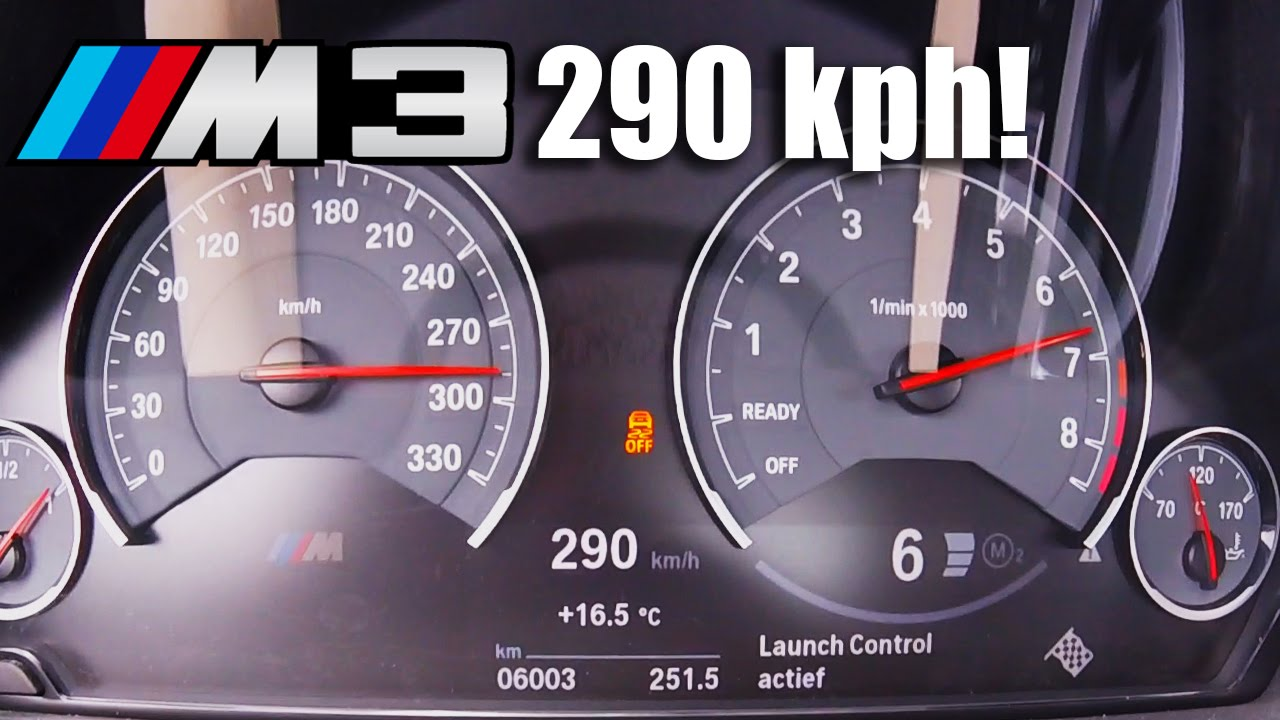 Bmw M3 Acceleration Top Speed 0 290 Km H F80 Competition Package 450 Hp Youtube