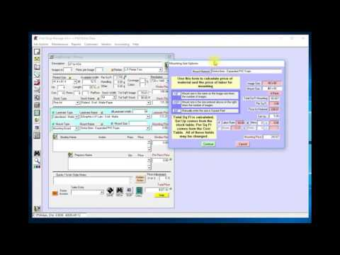 Print Shop Manager Large Format / Wide Format Update
