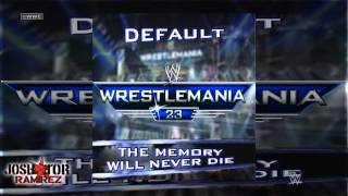 WWE: The Memory Will Never Die (WrestleMania 23 Theme) by Default  - DL w. Custom Cover