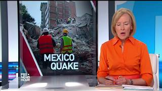 Rescue crews rush to search collapsed buildings after Mexico earthquake