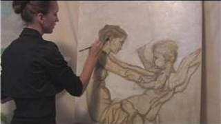Oil Painting Techniques : How to Paint on a Large Canvas