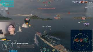 World of Warships stream - Księżniczka pokazuje...