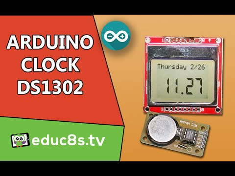 Arduino Real Time Clock project with the DS1302 module and a Nokia 5110 LCD display.