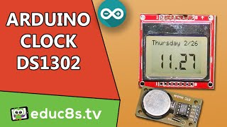 Repeat youtube video Arduino Project Real time clock DS1302 module Nokia 5110 DIY lcd tutorial