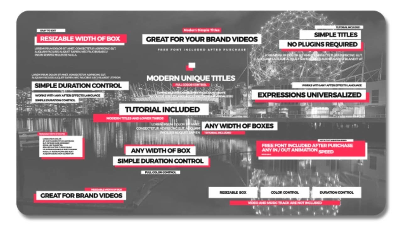 Simple Titles II After Effects Template YouTube - Awesome after effects website template design