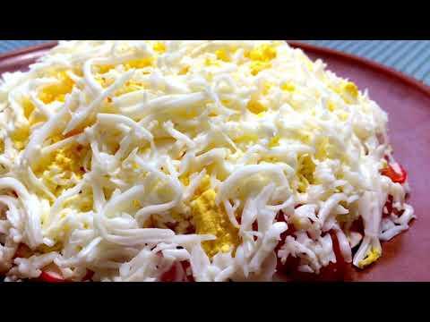 Салат с крабовыми палочками и помидорами Просто и очень вкусно