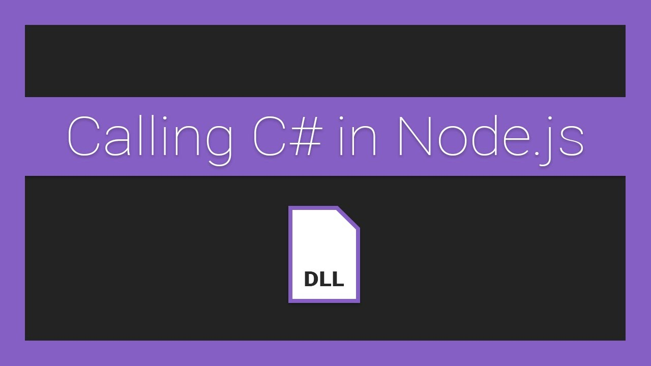 How to call Managed C# DLLs from Node.js