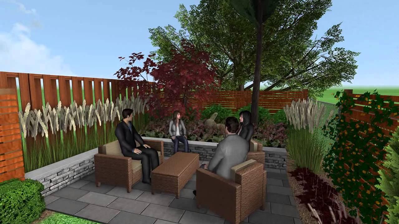 Garden 2 - 3D Landscape Design Virtual Walkthrough - YouTube