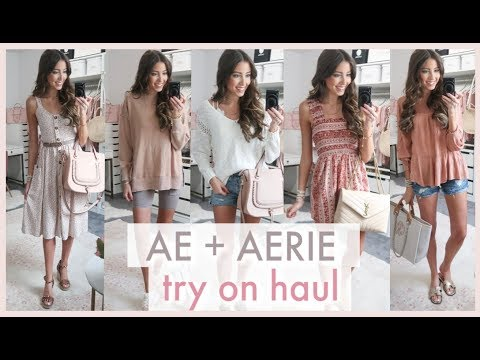 Aerie + American Eagle Try On Haul | Transitional Summer Into Fall Outfits!
