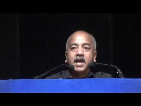 Manjit Mahanta addressing All India Jamiyat at ITI Pragjyoti Hall Machkhuwa Guwahati.