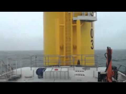 Ginny Louise on sea trials on the Greater Gabbard Offshore Windfarm, 2.5 - 3.5m sea