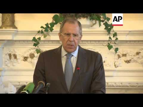 Lavrov comments after meeting Kerry to discuss Ukraine crisis