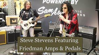 Steve Stevens (Billy Idol Guitarist) showcasing Friedman Guitar Amps