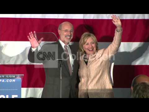 PA:HILLARY CLINTON CAMPAIGNS FOR TOM WOLF
