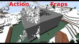 Minecraft : ACTION vs Fraps // Se nota la diferencia