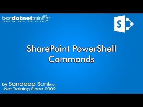 Part 13- PowerShell Commands - SharePoint 2010 Tutorial