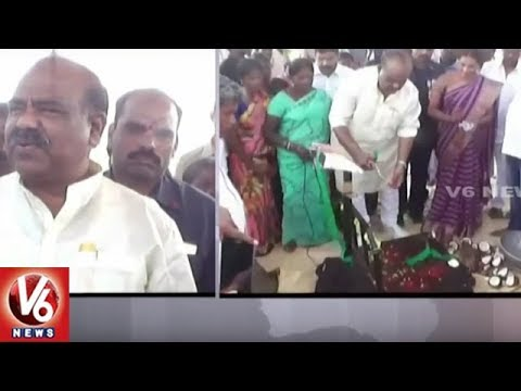 Speaker Madhusudhana Chary Inaugurate Paddy Purchase Center   Jayashankar Bhupalpally   V6 News