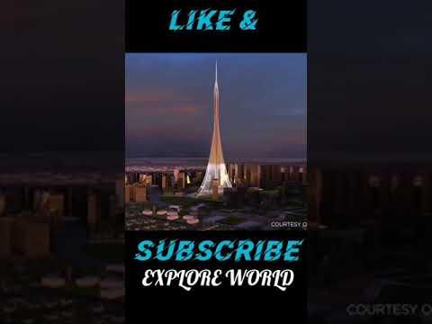 DUBAI CREEK TOWER – UNITED ARAB EMIRATES || DUBAI FRAME VIEW | EXPLORE DUBAI WHATSAPP STATUS #shorts