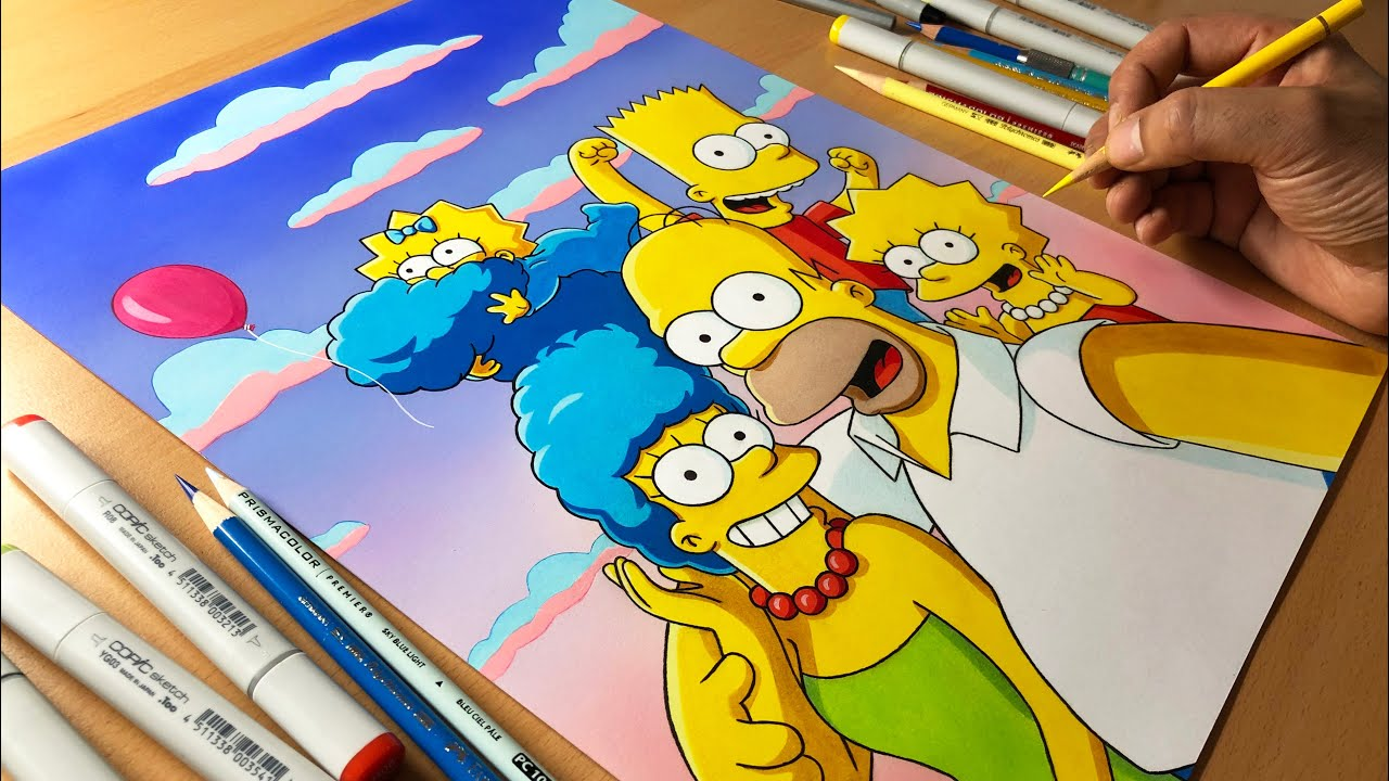 The Simpsons Artwork Timelapse Artology Youtube