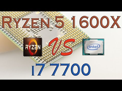 RYZEN 5 1600X vs i7 7700 - BENCHMARKS / GAMING TESTS REVIEW AND COMPARISON / Ryzen vs Kaby Lake