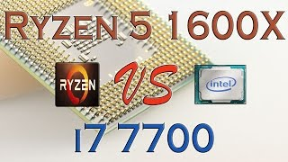 ryzen 5 1600x vs i7 7700 benchmarks gaming tests review and comparison ryzen vs kaby lake