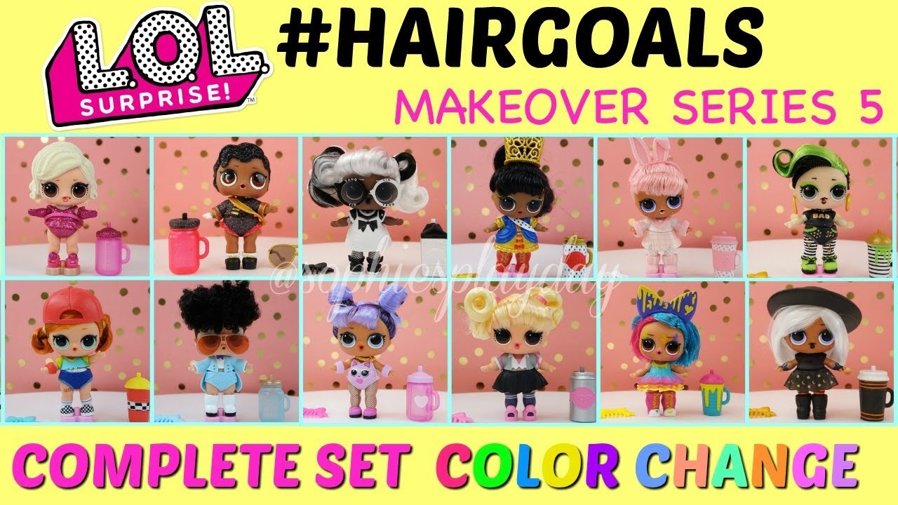NEW LOL SURPRISE HAIRGOALS  BIG SIS DOLL HAIR Style Makeover Series 5 OOPS BABY