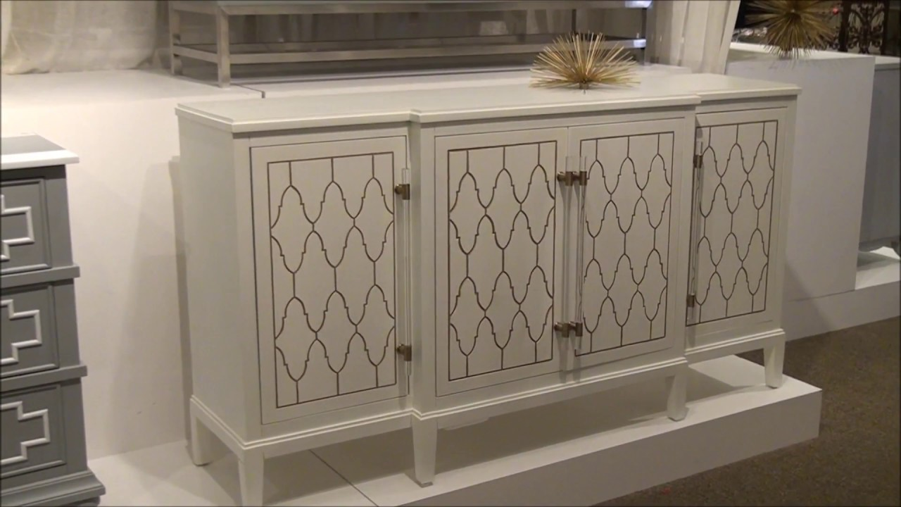 Credenza Definition In English : Eloquence white credenza by pulaski furniture youtube