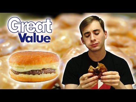 Great Value Donut CheeseBurger- Food Review #185