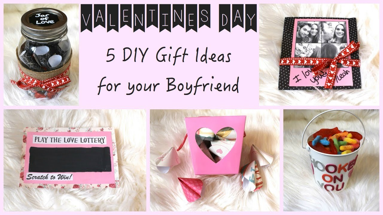 5 diy gift ideas for your boyfriend youtube negle