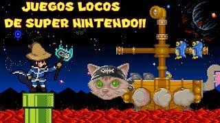 Probando Videojuegos Locos y Extraños de Super Nintendo con Pepe el Mago