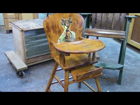 102 Reststoring a 1940's Ash Baby High Chair