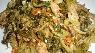 Stir Fry Pork with Pickled Green Mustard