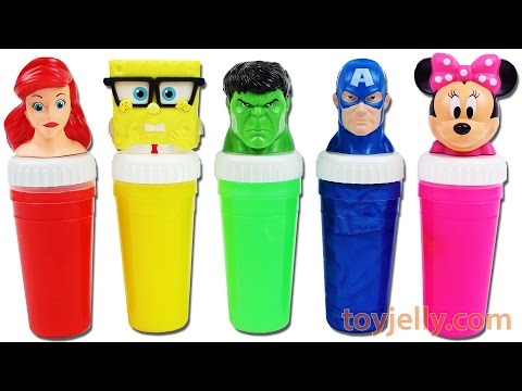 Thumbnail: Learn Colors Xylophone Finger Family Nursery Rhymes Superhero Disney Princess Slime Surprise Toys
