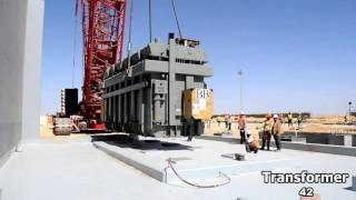 New Capital Power Plant - Transformer 42 erection