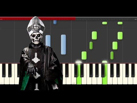 Ghost Jigolo Har Megiddo piano midi tutorial sheet partitura cover app karaoke