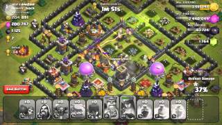 Clash of Clans - Farming In Champs #2 900K Raid - Showing My Stats