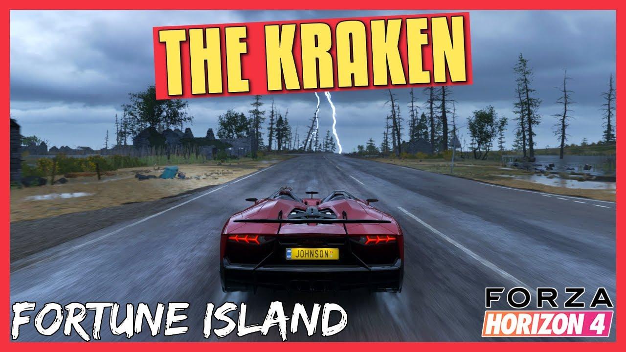 Forza Horizon 4 Aventador J On The Kraken Longest Fortune