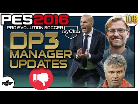 PES 2016 myClub - DP3 Manager Updates.