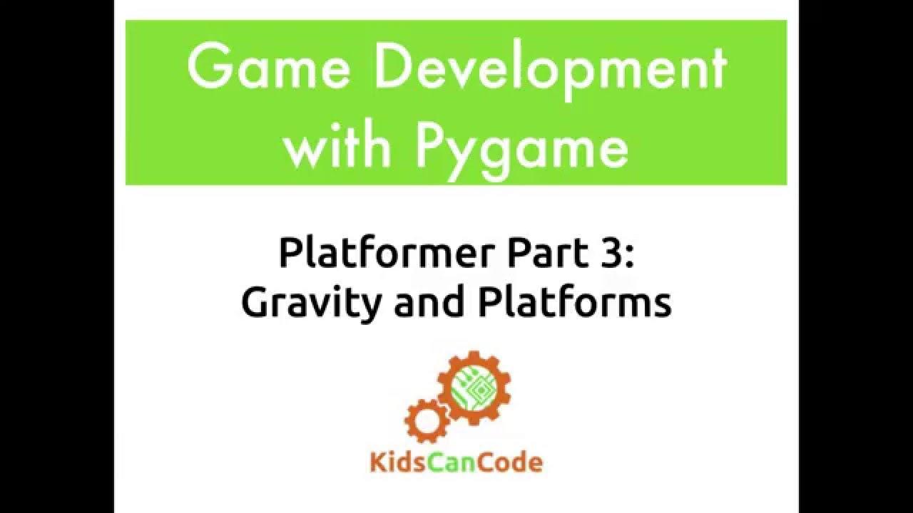 Pygame Platformer Part 3: Gravity and Platforms