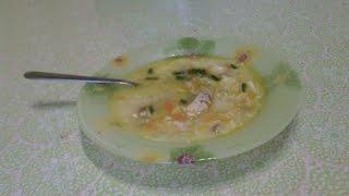 Сырный куриный суп с вермишелью // cheese soup with chicken and noodles