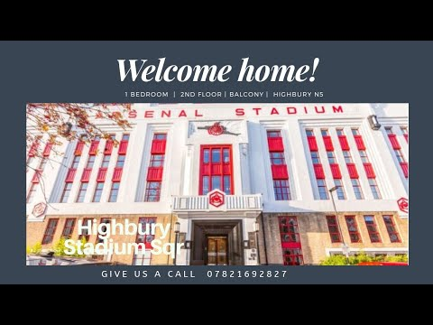 Arsenal Stadium For Sale !  - 1 Bed Modern Apartment In Highbury Stadium Square